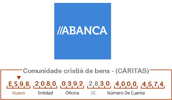 Cuenta IBAN de Cáritas Milladoiro, Cacheiras e contorna
